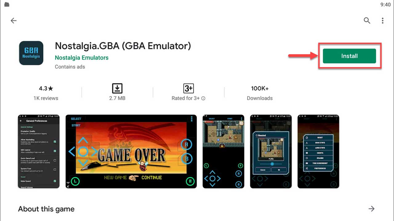 Download and Install Nostalgia.GBA (GBA Emulator) For PC (Windows 10/8/7)
