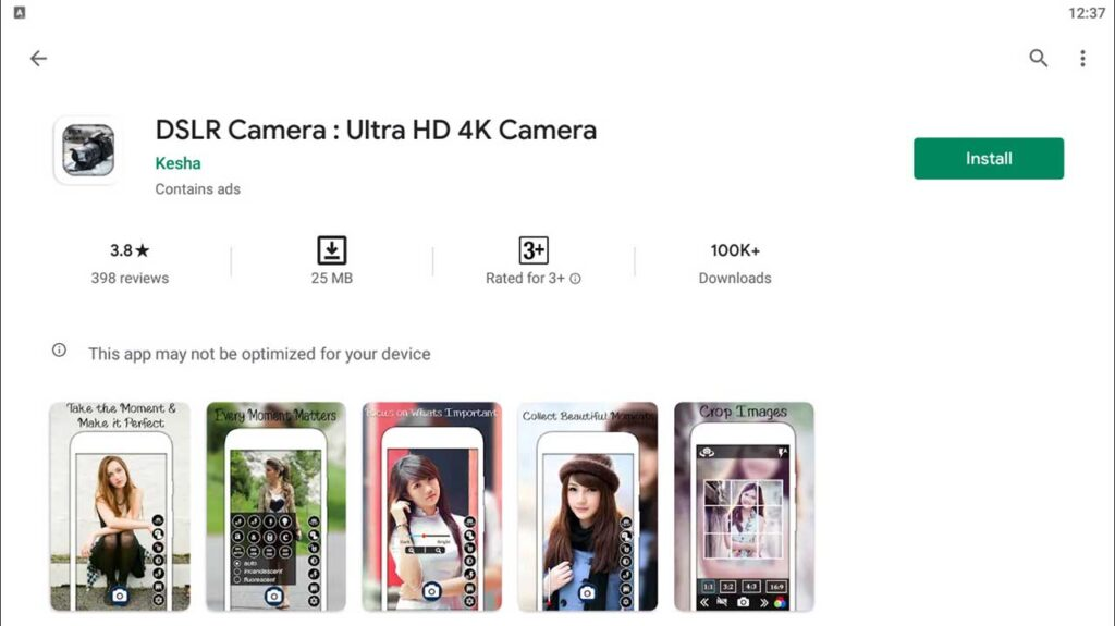 Download and Install DSLR Camera: Ultra-HD 4K Camera For PC (Windows 10/8/7)