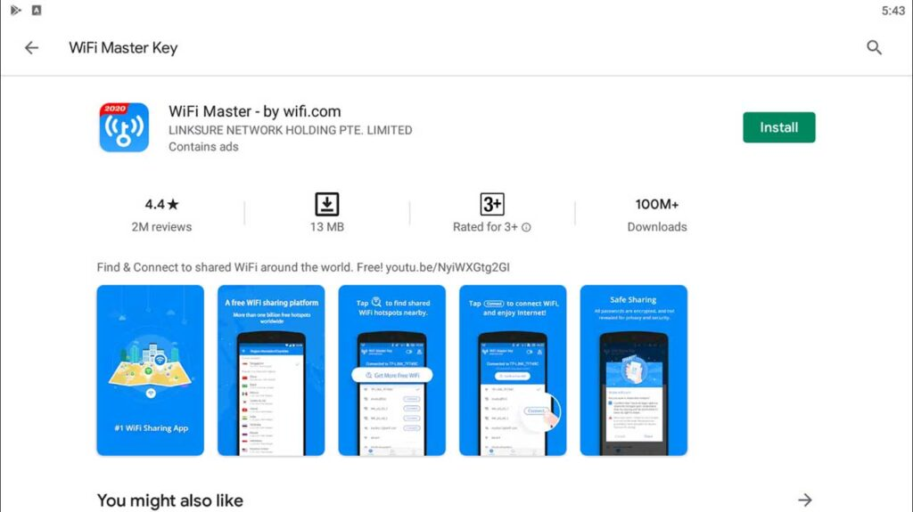 Download and Install WiFi Master Key For PC (Windows 10/8/7)