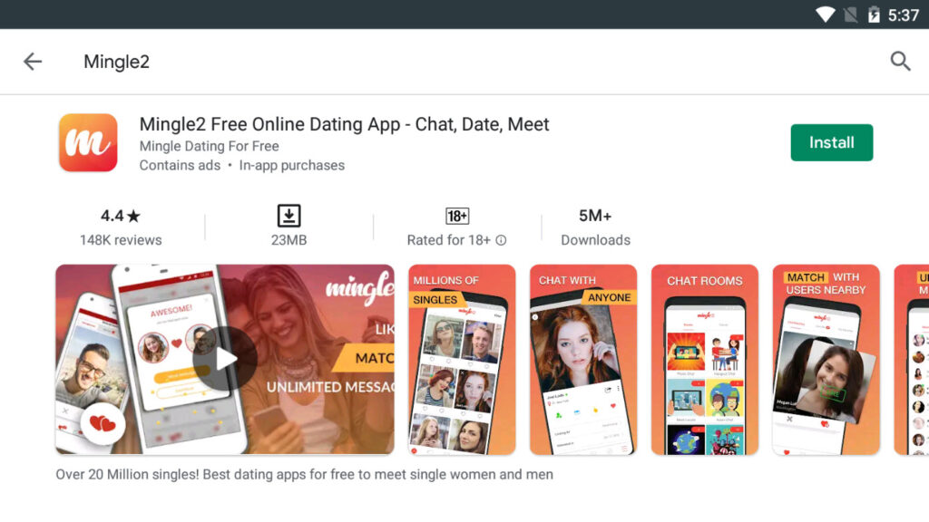 Download & Install Mingle2 app For PC (Windows 10/8/7)