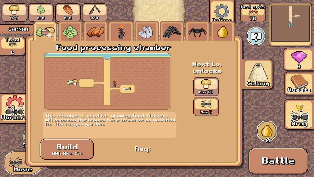 Pocket Ants - Colony Simulator For PC