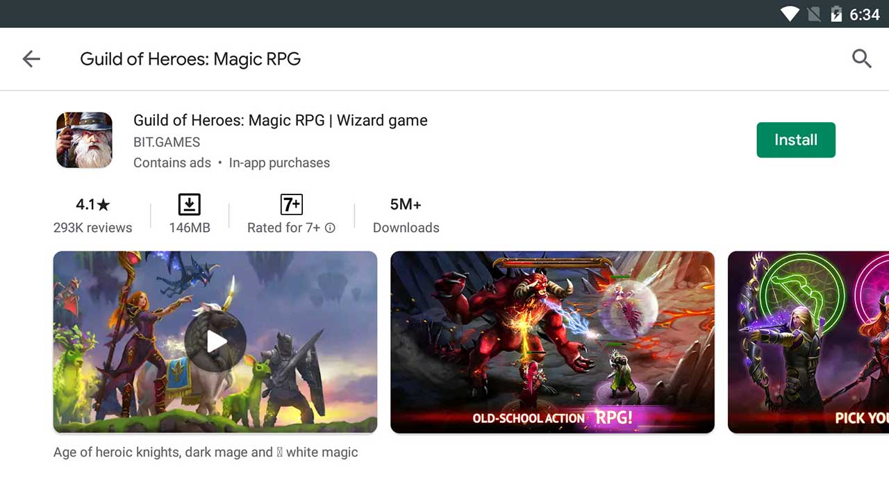 Download and Install Guild of Heroes: Magic RPG For PC (Windows 10/8/7)