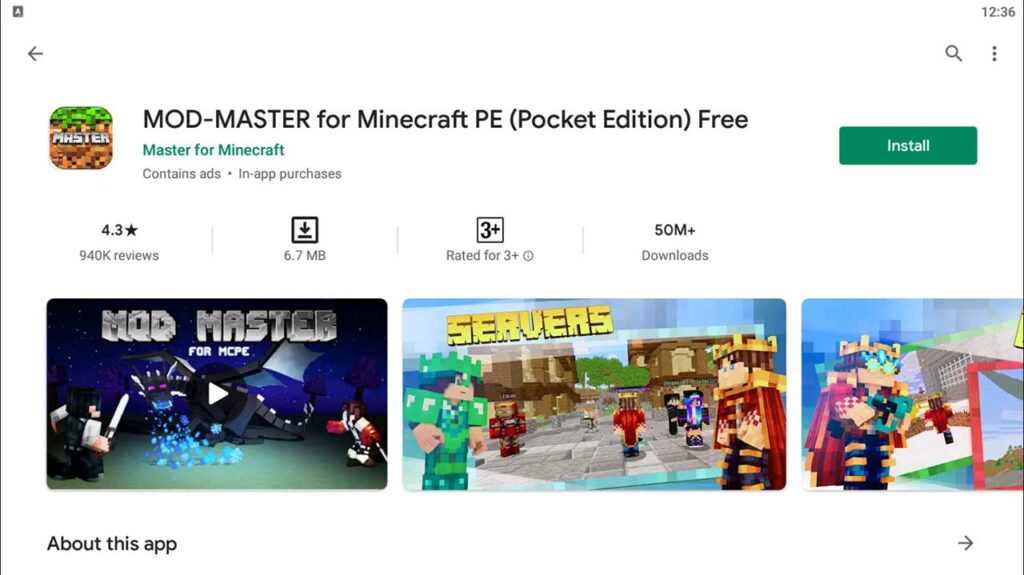 Download and Install MOD-MASTER for Minecraft PE (Pocket Edition) Free For PC (Windows 10/8/7)