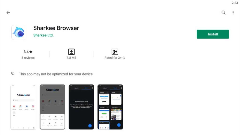 Download and Install Sharkee Browser For PC (Windows 10/8/7)