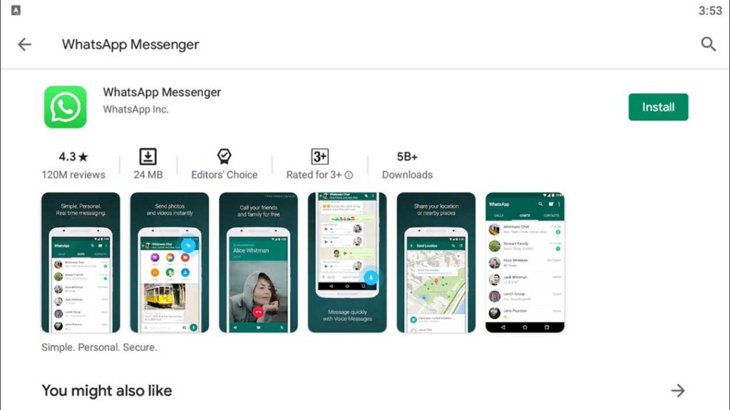 Download and Install WhatsApp Messenger For PC (Windows 10/8/7)
