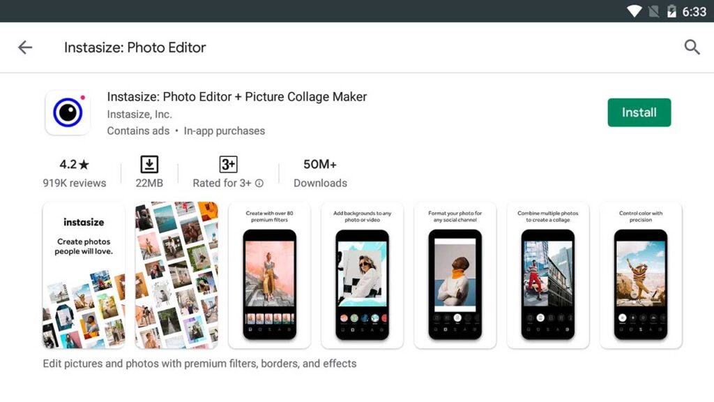 Download and Install Instasize: Photo Editor For PC (Windows 10/8/7)