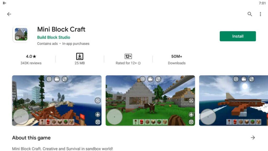 Download and Install Mini Block Craft For PC (Windows 10/8/7)